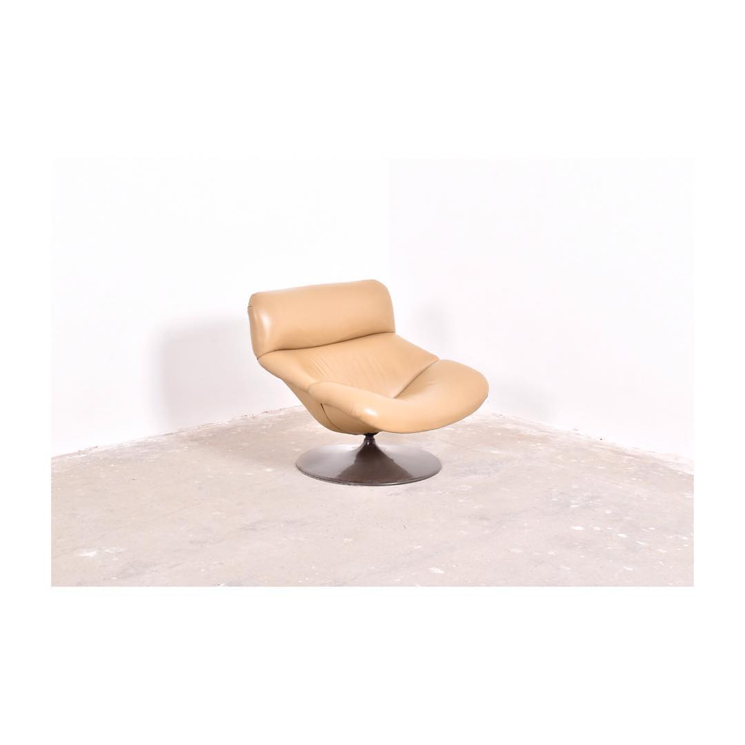 Lounge Chair F518 By Geoffrey Harcourt For Artifort, 1960u0027s. New Leather  Upholstery, Tulip