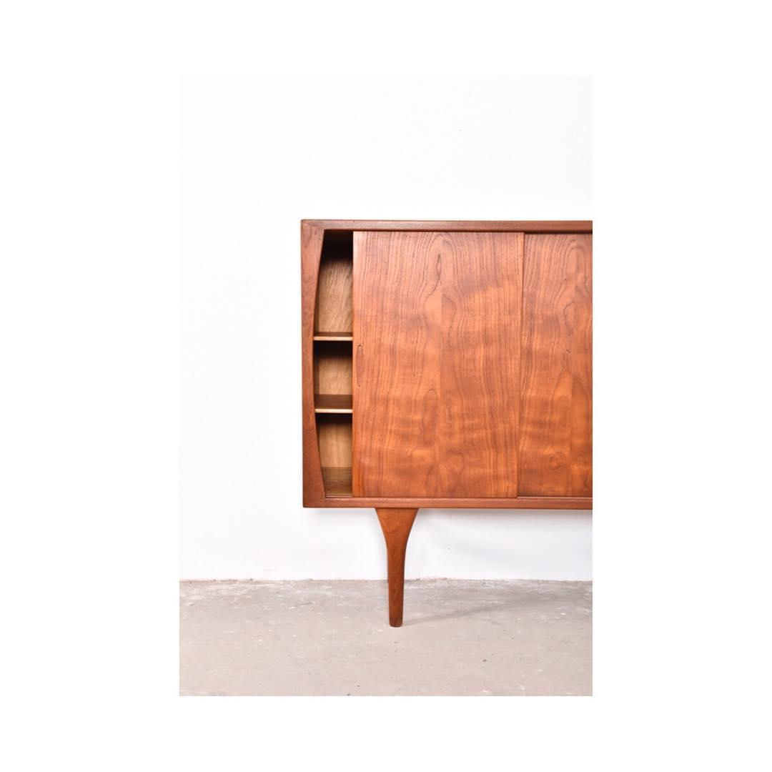 Highboard Design beautiful highboard in teak wood designed by henning kjaernulf for