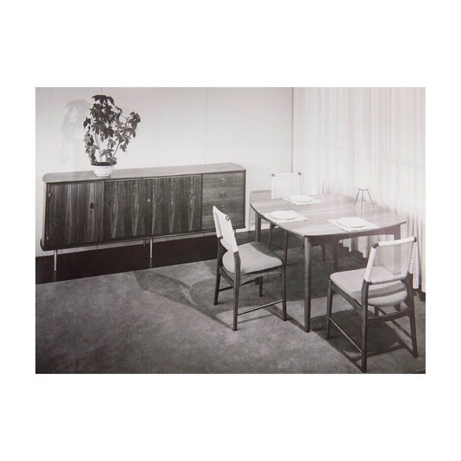 4 dining chairs by William Watting for Fristho, Modernart serie, model CB, circa 1956 🎞