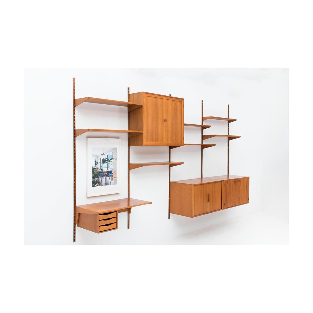 Beautiful modular XL wall unit with writing desk by Kai Kristiansen for sale in our showroom ?